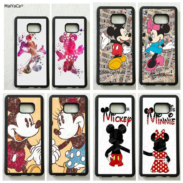 Mickey Minnie Best Friends Forever BFF TPU Cases For Samsung S5 S6 S6edge Plus S7 S7edge S8 S8plus S9 S9plus Note5 Note8 Note9