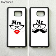 Mr. And Mrs. White Back Best Friends BFF TPU Phone Cases For Samsung S5 S6 Edge Plus S7 Edge S8 Plus S9 S9plus Note5 Note8 Note9