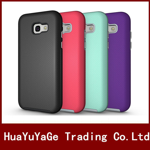 Phone Cases TPU + PC Rugged Armor Back Shockproof Protective Cover Candy Color Anti-drop Case For Samsung Galaxy A5 2017 A520