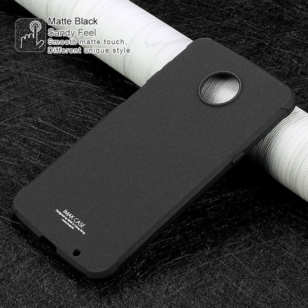 SFor MOTO Z3 Case Cover IMAK Airbag Shockproof Soft TPU Back Cover SFor Motorola Z3 Case Silicone With Screen Protector