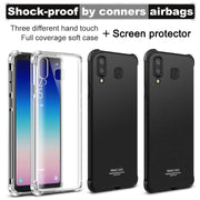 SFor Samsung Galaxy A9 Star Case IMAK Soft Silicone TPU Airbag Cover Case For Samsung Galaxy A8 Star Cases Gift Screen Protector