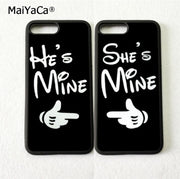 She Is Mine Love Pair Best Friends Silicone Mobile Phone Cases For IPhone 5s Se 6 6s Plus 7 7plus 8 8plus X XR XS MAX Cover Case