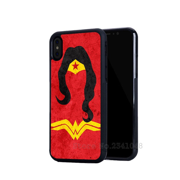 Superman Wonderwom BFF Best Friends Forever Silicone Phone Cases For IPhone 5s Se 6 6s Plus 7 7plus 8 8plus X XR XS MAX Cover
