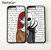 The Nightmare Before Christmas BFF Silicone Soft Phone Shell For IPhone 5s Se 6 6s Plus 7 7plus 8 8plus X XR XS MAX Cover Case