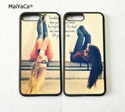 Two Girls Besties BFF Best Friends Two Girls Soft Silicone Phone Cases For IPhone 5s Se 6 6s Plus 7 7plus 8 8plus X XR XS MAX