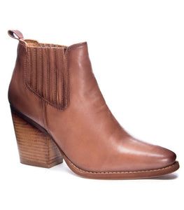 Brown, Leather, Boot, Pull on, Ankle Boot, Chinese Laundry