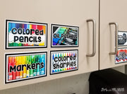 Classroom Art Supply Labels (Blank Template Included)