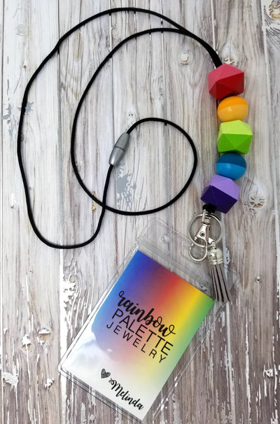 Two-tone Rainbow Lanyard