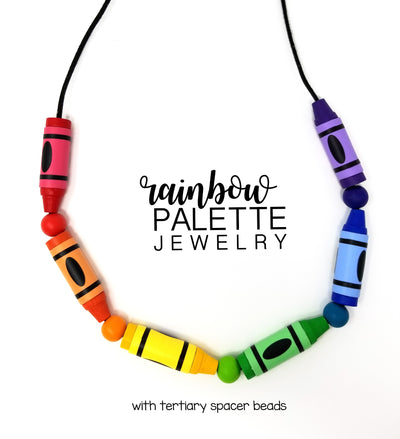 Rainbow Crayon Necklace