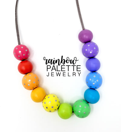 Polka Dot Pastel Necklace