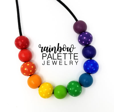 AB Spotted Round Rainbow Necklace [20mm/18mm]