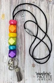 Metallic Rainbow Lanyard (#2)