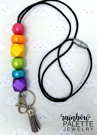 Metallic Rainbow Lanyard (#3)