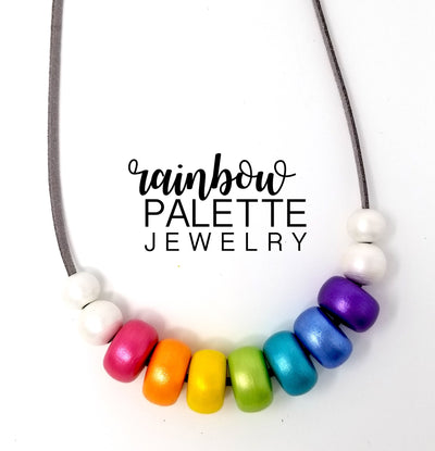 Ode the the Rainbow Pearlescent Necklace