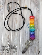 Two-tone Rainbow Metallic Lanyard (2 Design Options)