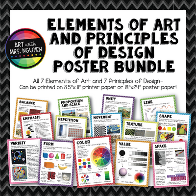 Elements of Art and Principles of Design Poster Bundle