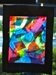 Art Lesson: Color Mixing Tissue Paper Collage