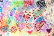Art Lesson: Textured Heart Paintings