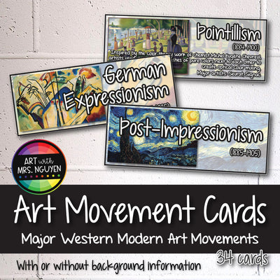 Modern Art Movement Cards