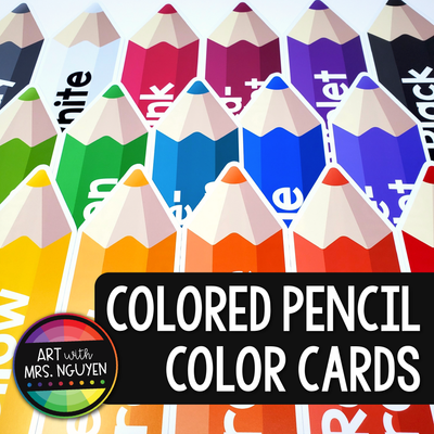 Colored Pencil Color Card Posters