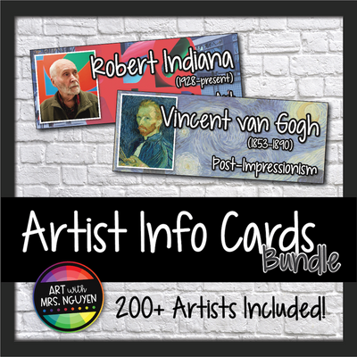 200 Artist Cards: Modern Art Movement