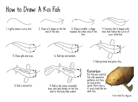 Art Lesson: Koi Fish Paintings