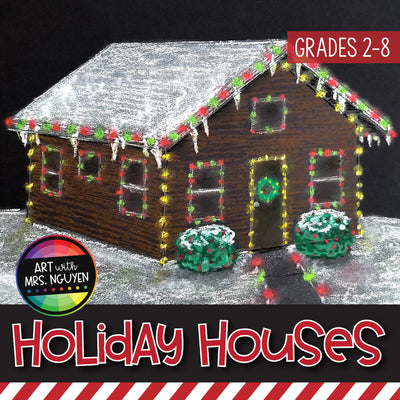 Art Lesson: Holiday Houses