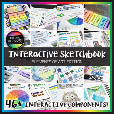 Interactive Art Sketchbook: Elements of Art