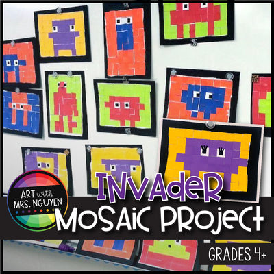 Art Lesson: Invader Mosaic Project (Math, Technology, and Art)