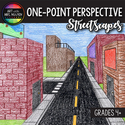 Art Lesson: One-Point Perspective Streetscapes