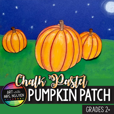 Art Lesson: Chalk Pastel Pumpkin Patch