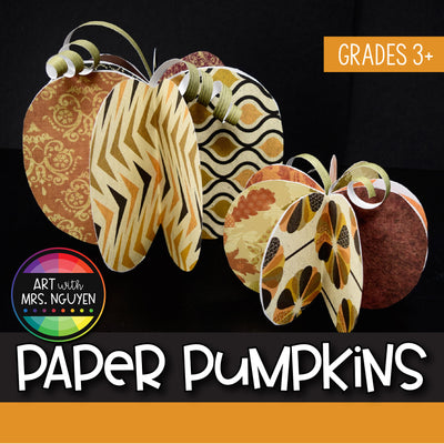 Art Lesson: Decorative Paper Pumpkins