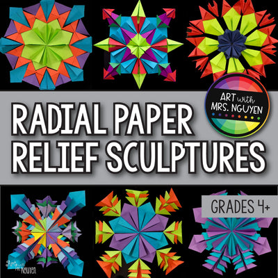 Art Lesson: Radial Paper Relief Sculptures
