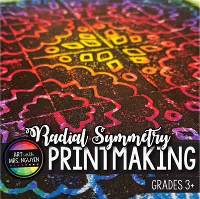 Art Lesson: Radial Symmetry Printmaking