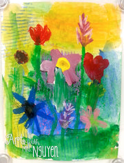 Art Lesson: Variety Flowers Painting