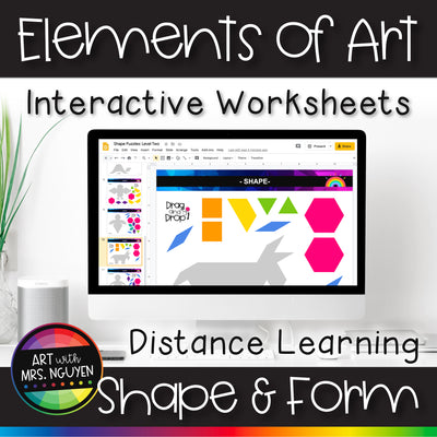 Elements of Art Interactive Worksheets for Distance Learning: Shape and Form