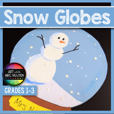 Art Lesson: Snow Globe Collage