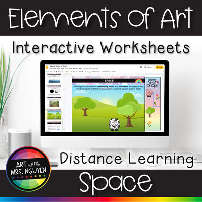 Elements of Art Interactive Google Slide Worksheets for Distance Learning: Space