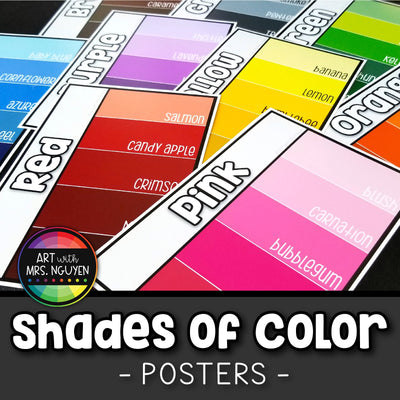 Descriptive Shades of Color Posters (Paint Swatch Design)