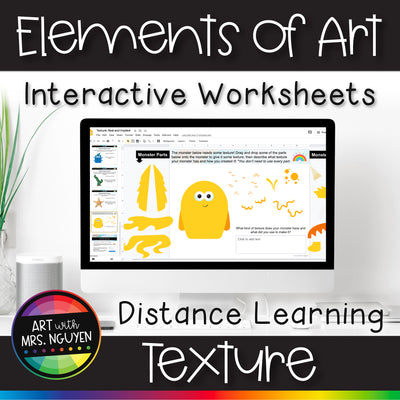 Elements of Art Interactive Worksheets for Distance Learning: Texture