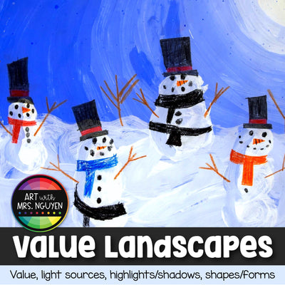 Art Lesson: Winter Value Landscapes