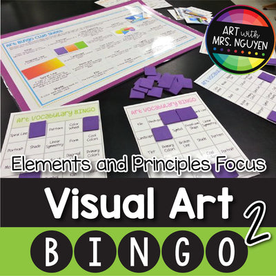 Visual Art Bingo: 2nd Edition - Elements and Principles