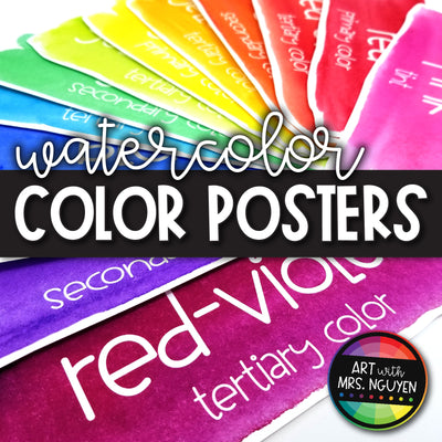 Watercolor Color Poster Strips