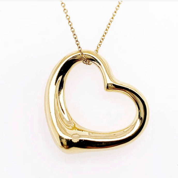 Vintage Tiffany's Solid Gold Heart Pendant
