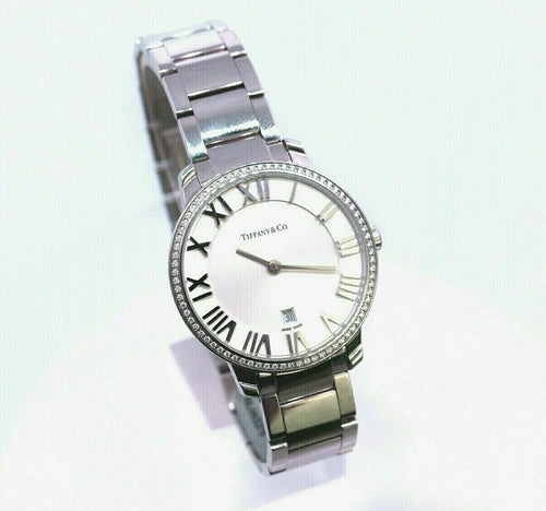 Tiffany & Co. Atlas Watch with a Diamond Bezel