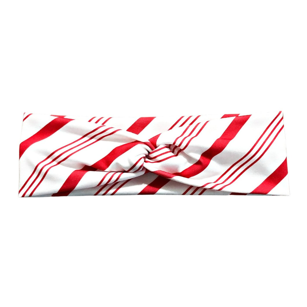 Candy Cane Stripe Knot Headband