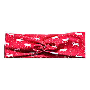 Reindeer Christmas Headband - Red, White, Yellow