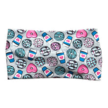 Copy of Women's Wide Nurse Print Donuts and Coffee, Gray
