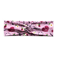 Mauve Nurse Floral Twist Headband for Women
