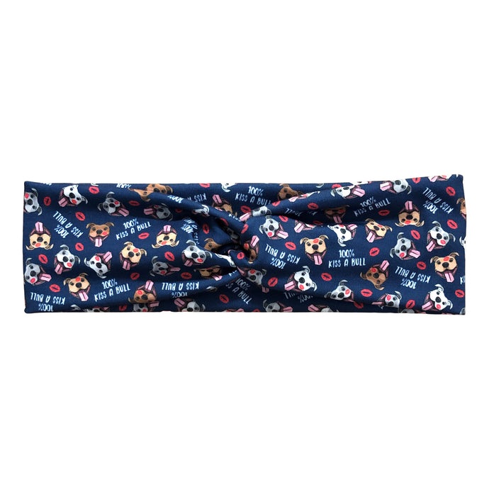 Women's Valentine Pitbull Twist Headband